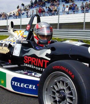 Pedro Moleiro in a BMX single-seater