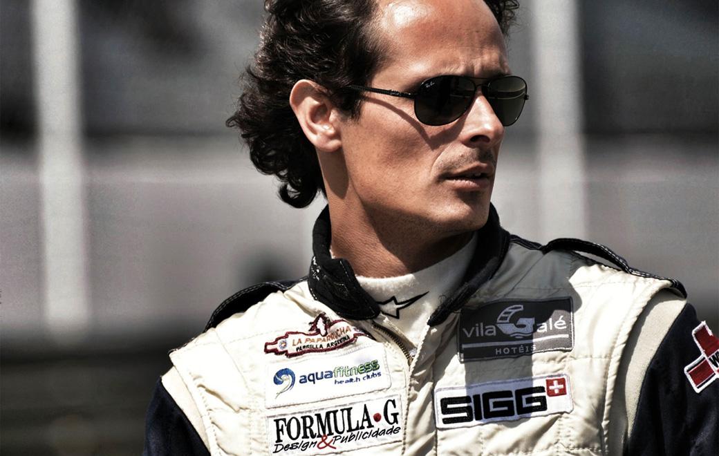 Pedro Moleiro in his racing suit